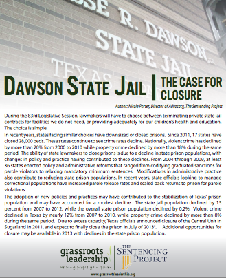New Grassroots Leadership Report, Petition Call for Closure of ...