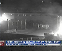 Riot at Crowley (news from settlement, 2013)