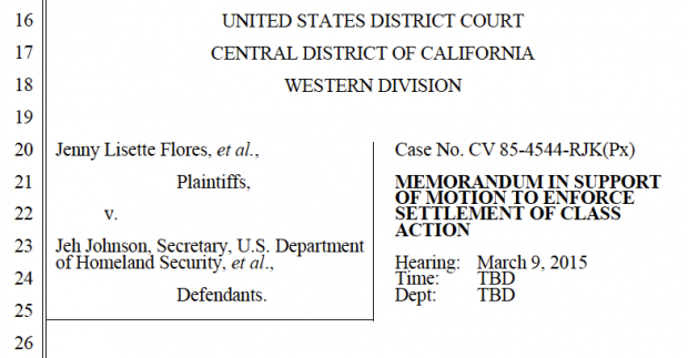 New Litigation Says Family Detention And Ice Boxes Violate Prior